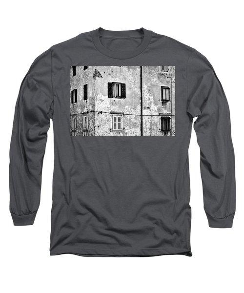 Long Sleeve T-Shirt featuring the photograph Piran Windows - Slovenia by Stuart Litoff
