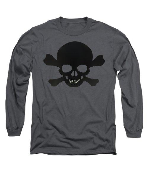 Pirate Skull And Crossbones Long Sleeve T-Shirt