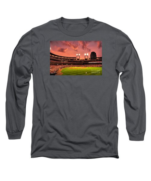 Long Sleeve T-Shirt featuring the digital art Piscotty In Left Field by William Fields