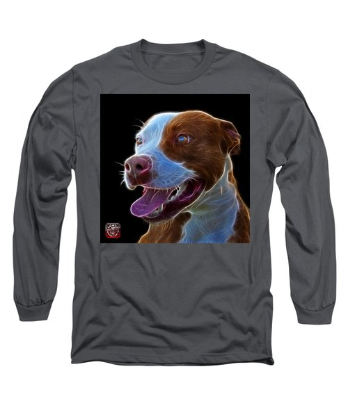 Pit Bull Fractal Pop Art - 7773 - F - Bb Long Sleeve T-Shirt