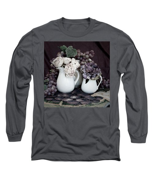 Long Sleeve T-Shirt featuring the photograph Pitchers And Tapestry by Sherry Hallemeier