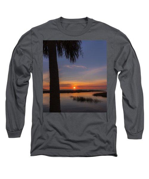 Pitt Street Bridge Palmetto Sunset Long Sleeve T-Shirt