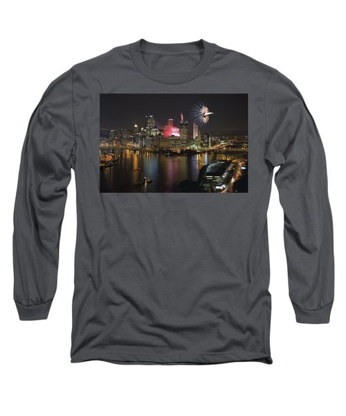 Pittsburgh 3 Long Sleeve T-Shirt by Emmanuel Panagiotakis