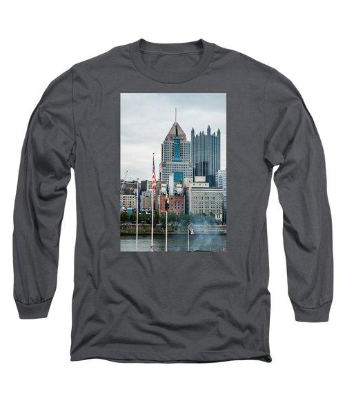 Pittsburgh - 6975 Long Sleeve T-Shirt by G L Sarti