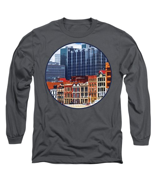 Pittsburgh Pa Skyline Closeup Long Sleeve T-Shirt