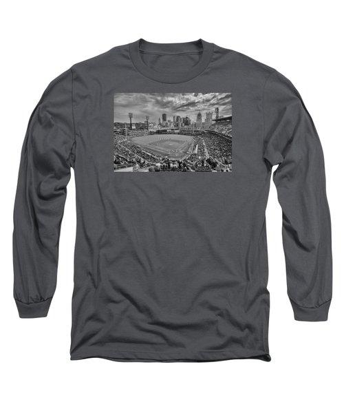 Pittsburgh Pirates Pnc Park Bw X1 Long Sleeve T-Shirt by David Haskett