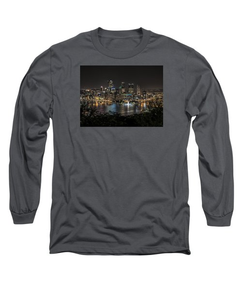 Long Sleeve T-Shirt featuring the photograph Pittsburgh Skyline by Brent Durken