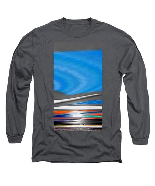 Pittura Digital Long Sleeve T-Shirt by Sheila Mcdonald