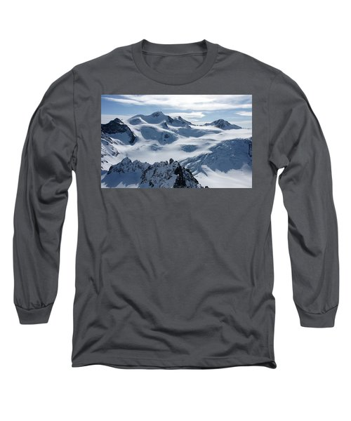 Long Sleeve T-Shirt featuring the photograph Pitztal Glacier by Christian Zesewitz