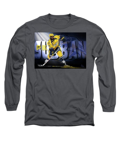 Long Sleeve T-Shirt featuring the photograph Pk Subban by Don Olea