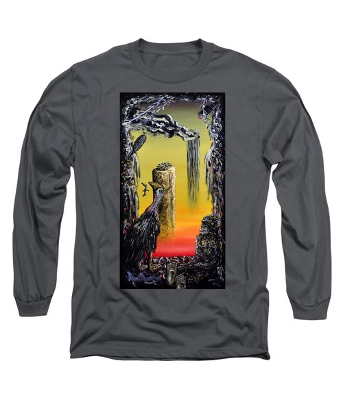 Long Sleeve T-Shirt featuring the painting Planet Of Anomalies by Ryan Demaree