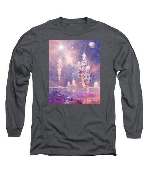 Long Sleeve T-Shirt featuring the digital art Shell City by Alexa Szlavics