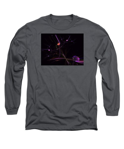 Planets And Space Energies Long Sleeve T-Shirt by Ernst Dittmar