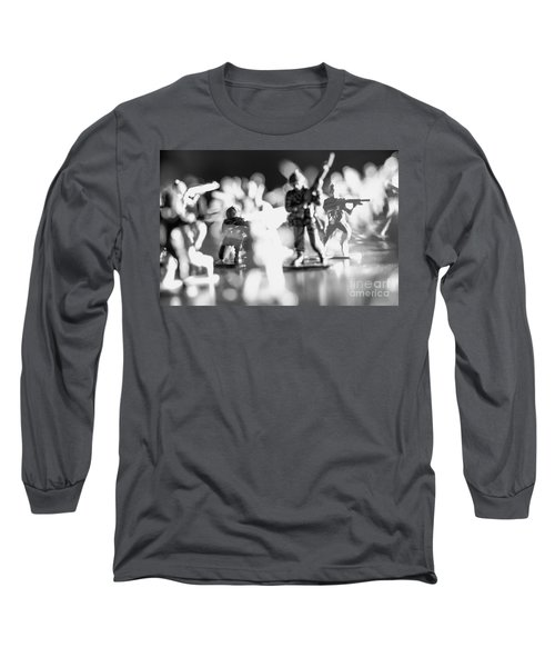 Long Sleeve T-Shirt featuring the photograph Plastic Army Men 2 by Micah May