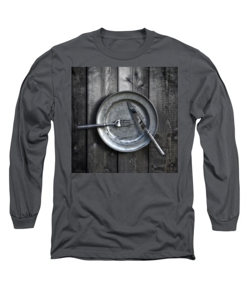 Plate With Silverware Long Sleeve T-Shirt