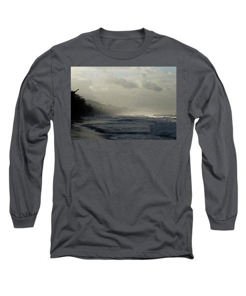 Playa Negra Beach At Sunset In Costa Rica Long Sleeve T-Shirt