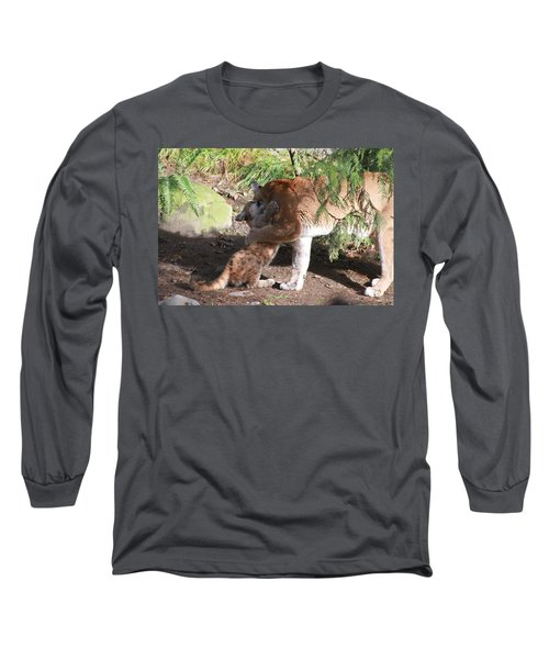 Long Sleeve T-Shirt featuring the photograph Playful Hugs by Laddie Halupa