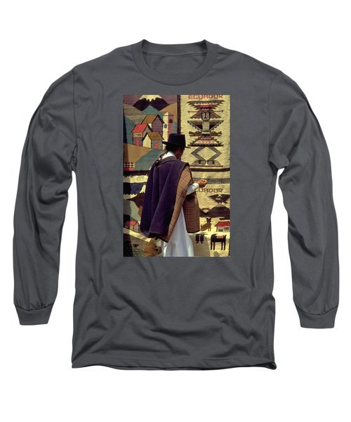 Long Sleeve T-Shirt featuring the photograph Plaza De Ponchos by Travel Pics