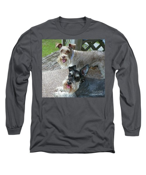 Long Sleeve T-Shirt featuring the photograph Please Help Us Catch That Squirrel by Carol  Bradley