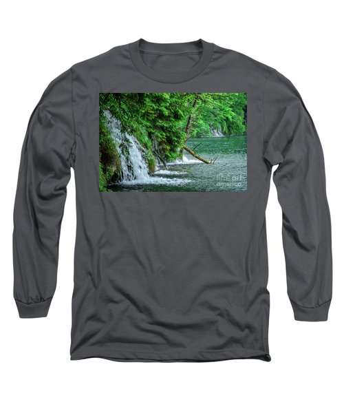 Plitvice Lakes National Park, Croatia - The Intersection Of Upper And Lower Lakes Long Sleeve T-Shirt