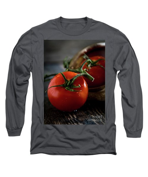 Plump Red Tomatoes Long Sleeve T-Shirt by Deborah Klubertanz