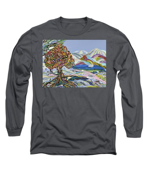 Poet's Lake Long Sleeve T-Shirt by Erika Pochybova