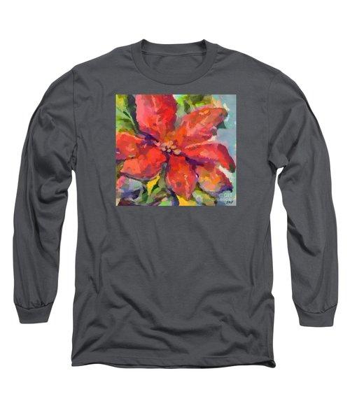 Poinsettia Long Sleeve T-Shirt by Dragica Micki Fortuna