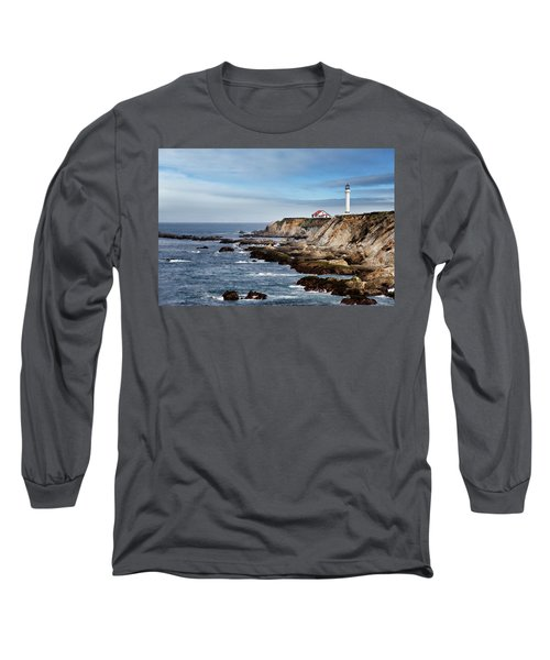 Point Arena Light Long Sleeve T-Shirt by Lana Trussell