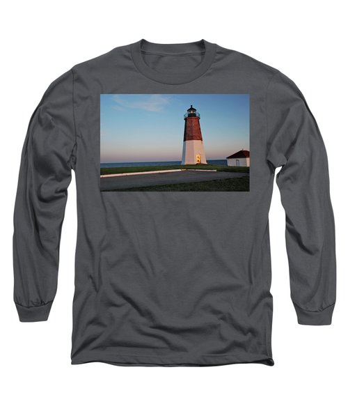 Point Judith Lighthouse Rhode Island Long Sleeve T-Shirt