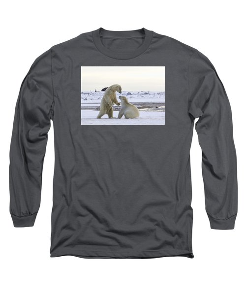 Polar Bear Play-fighting Long Sleeve T-Shirt