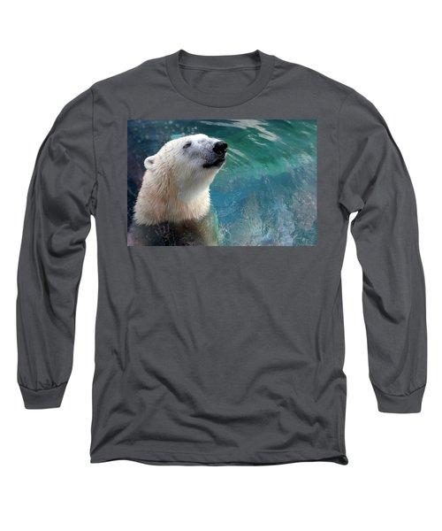 Polar Bear Up Close Long Sleeve T-Shirt