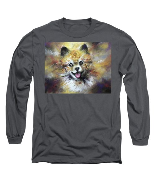 Pomeranian Long Sleeve T-Shirt by Patricia Lintner