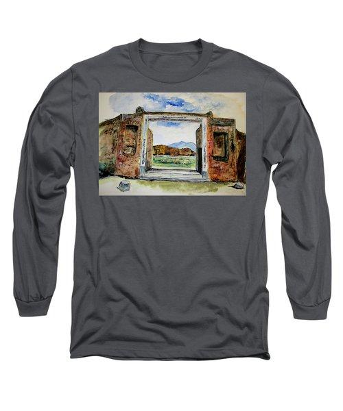 Pompeii Doorway Long Sleeve T-Shirt by Clyde J Kell