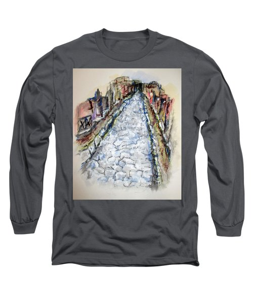 Pompeii Road Long Sleeve T-Shirt by Clyde J Kell