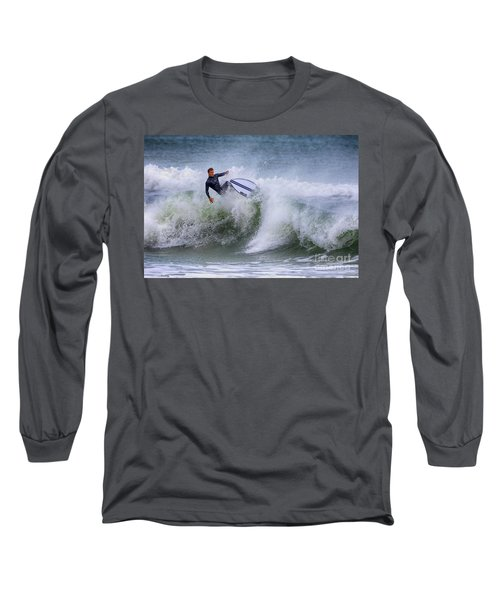 Long Sleeve T-Shirt featuring the photograph Ponce Surf 2017 by Deborah Benoit