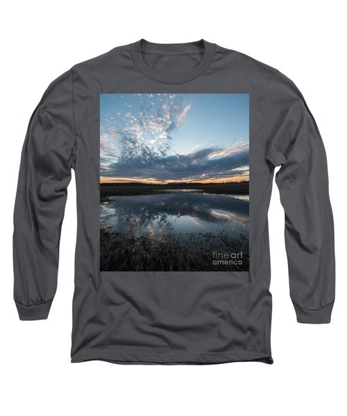 Pond And Sky Reflection3a Long Sleeve T-Shirt