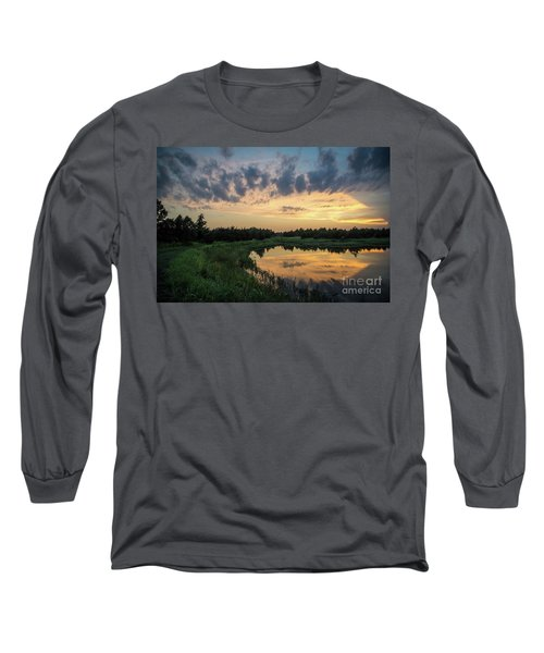 Pond And Sunset Long Sleeve T-Shirt