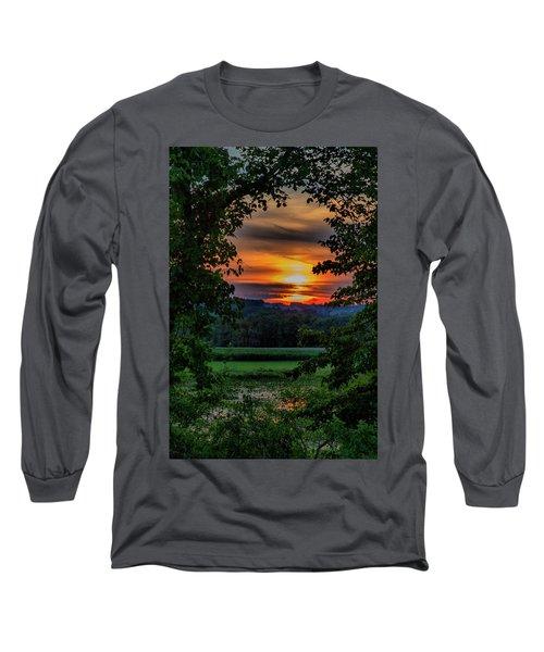 Pond Sunset  Long Sleeve T-Shirt