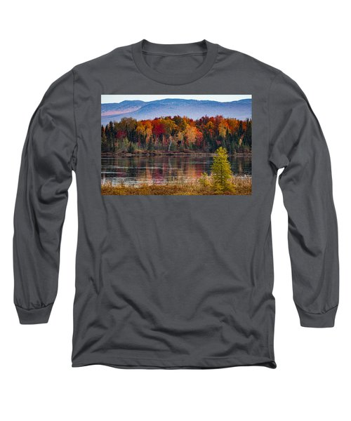 Pondicherry Fall Foliage Reflection Long Sleeve T-Shirt