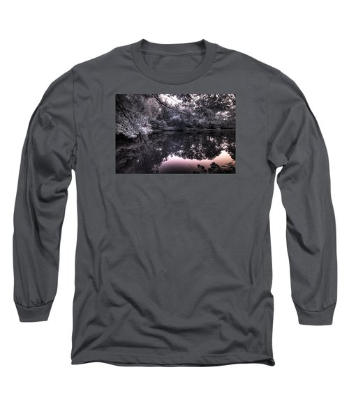 Long Sleeve T-Shirt featuring the photograph Pondside Dusk by William Fields