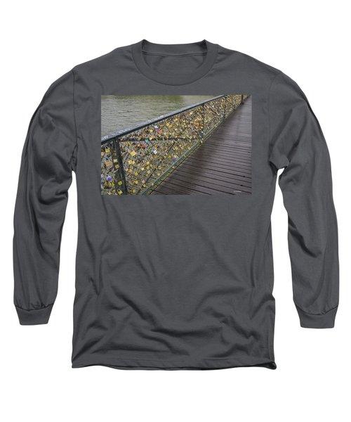 Pont Des Artes Long Sleeve T-Shirt by Allen Sheffield