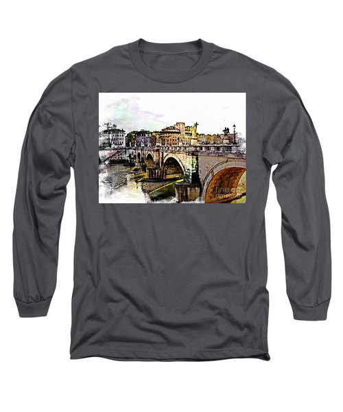 Ponte San Angelo, Rome, Italy Long Sleeve T-Shirt