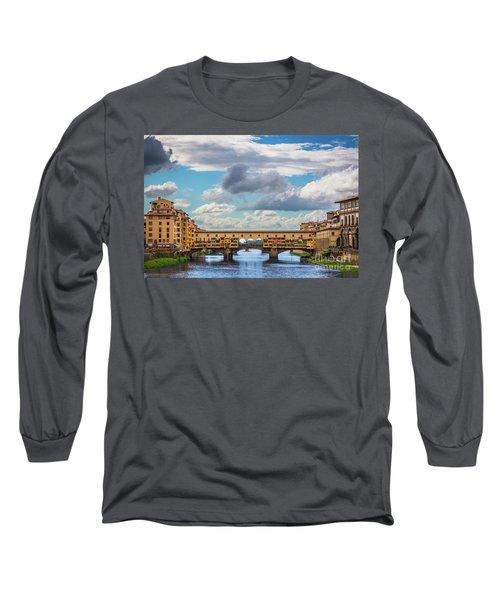 Ponte Vecchio Clouds Long Sleeve T-Shirt