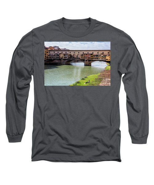 Long Sleeve T-Shirt featuring the photograph Ponte Vecchio Florence Italy II by Joan Carroll