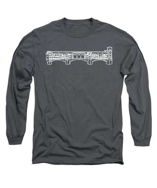 Ponte Vecchio Florence Tee White Long Sleeve T-Shirt