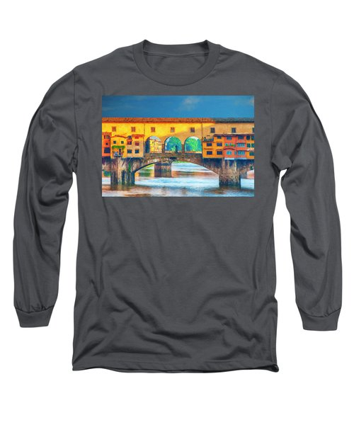 Ponte Vecchio Impression Long Sleeve T-Shirt