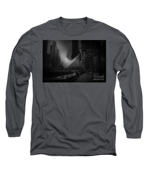 Pool Station, Bw Long Sleeve T-Shirt