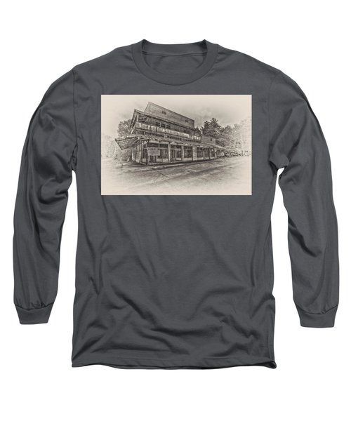 Poole's Crossroad In Sepia Long Sleeve T-Shirt