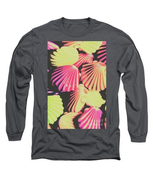 Pop Art From Fluorescent Beach Long Sleeve T-Shirt
