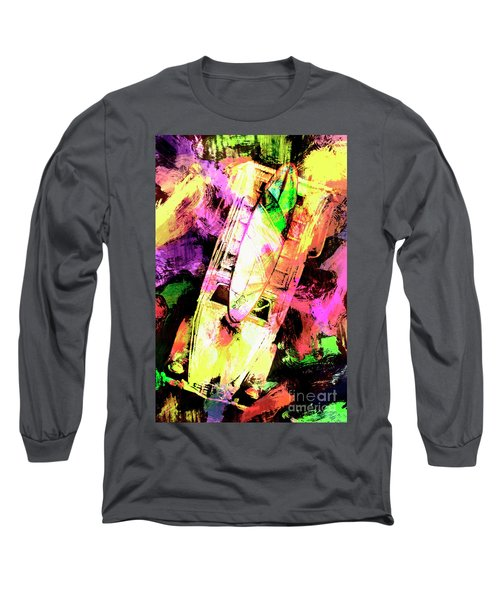 Pop Art Surf Cars And Painted Waves Long Sleeve T-Shirt